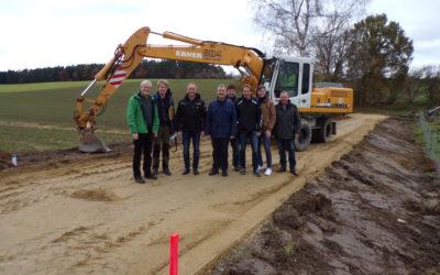 Baumaßnahmen im Rahmen des Projekts boden:ständig verbessern den Hochwasserschutz