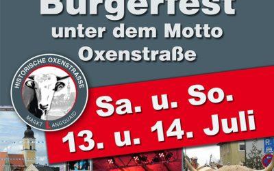 Langquaider Bürgerfest  am 13. und 14. Juli erstmals unter dem Motto  Oxenstraße