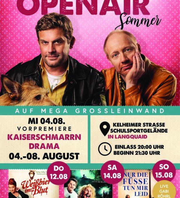 Weiteres Sommer-Highlight: Openair Kino auf Mega Großleinwand!