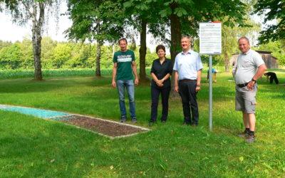 Neuer Fußfühlfpfad ergänzt Marktweiher-Naherholungsgebiet