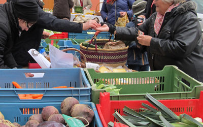 Langquaider Bauernmarkt mit viel Information und Kostproben rund um die Kartoffel
