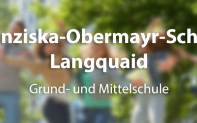 Unterrichtsbeginn an der Franziska-Obermayr Grund- und Mittelschule zum neuen Schuljahr