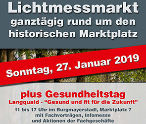"""2. Langquaider Gesundheitstag """"Gesund und fit für die Zukunft"""" am 27.1. zum Lichtmessmarkt"""